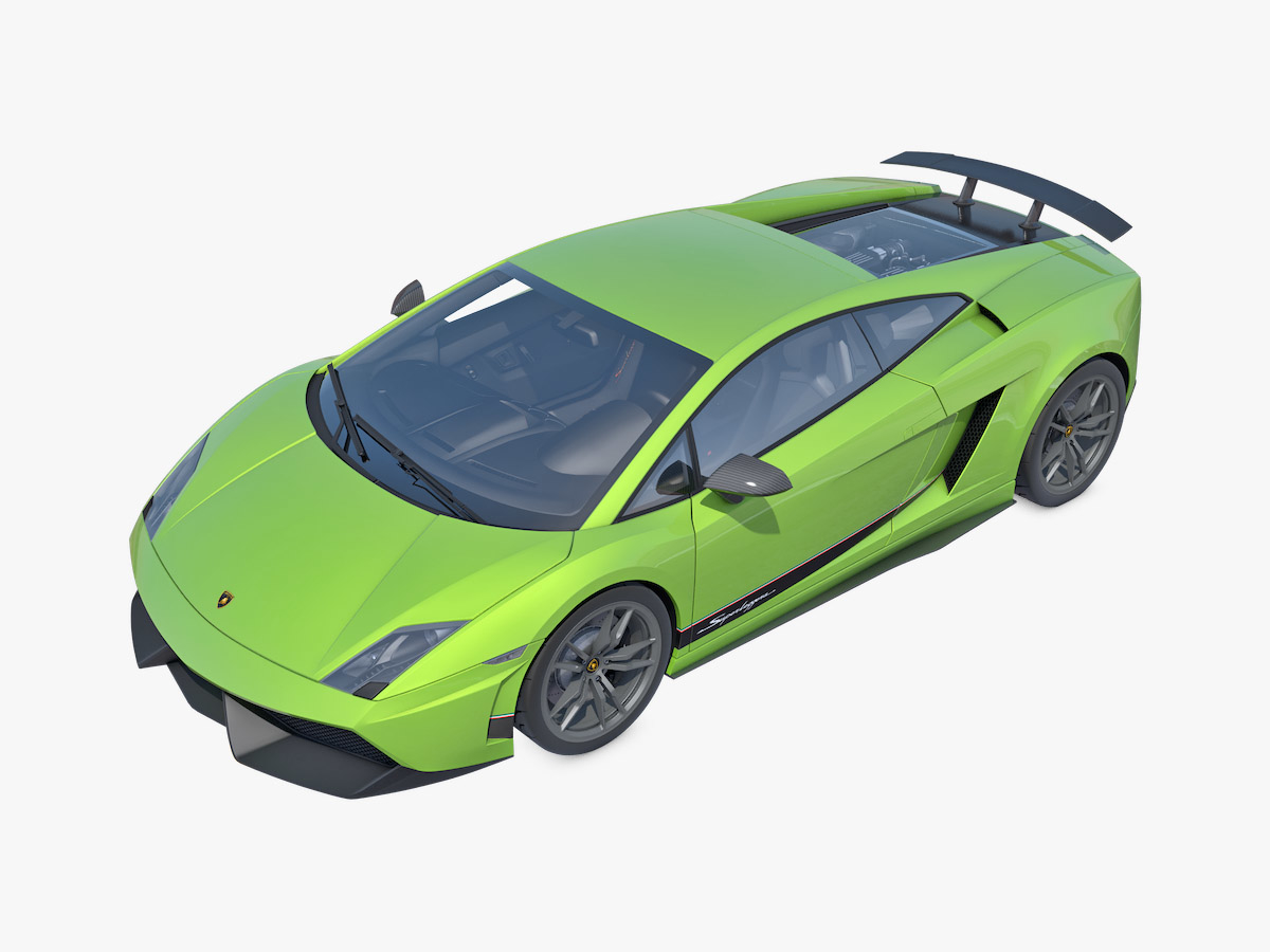 3D model lamborghini gallardo lp570-4 superleggera