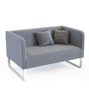 ikea knopparp sofa 3D model