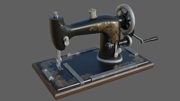 machine sewing retro 3D model