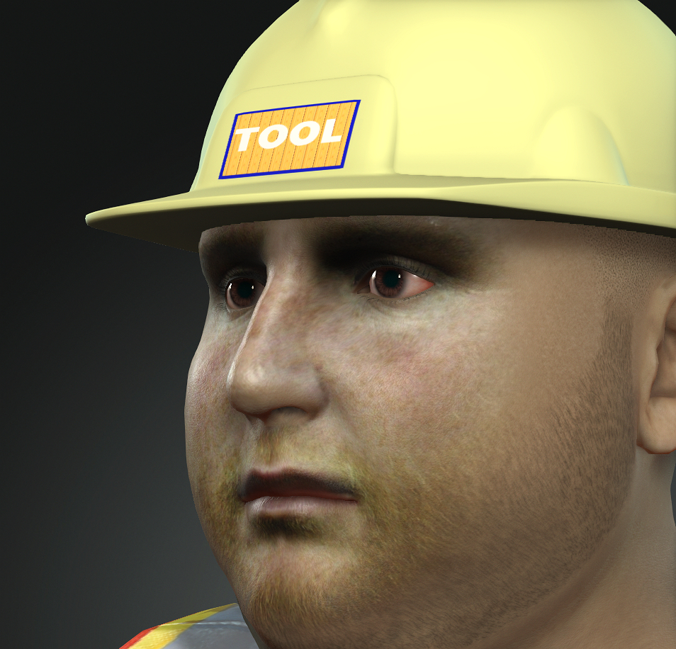 3D construction worker model