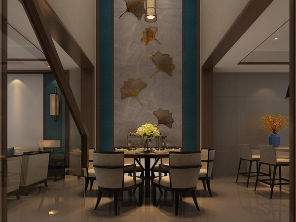 interior living room dining model