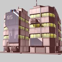 3D apartment building apartment1 model