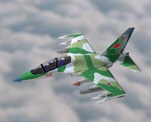 yak-130 jet aircraft fighter 3D model