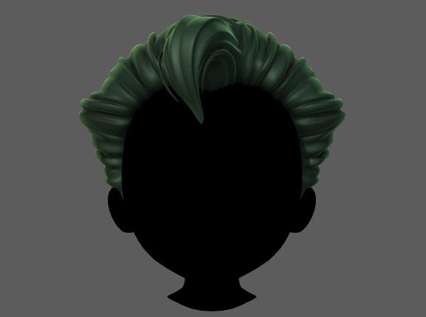 hair style boy v69 3D model