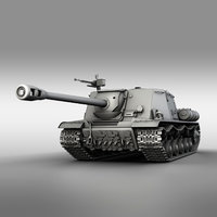 3D model isu-122s - soviet assault
