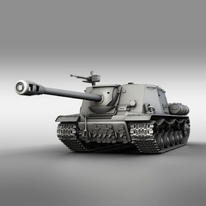 3D model isu-122s - soviet assault