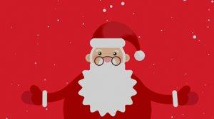 2d animation Santa Claus dance loop footage
