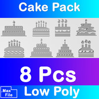 3D cake pack icon