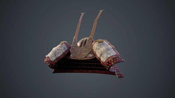 helmet samurai 3D model