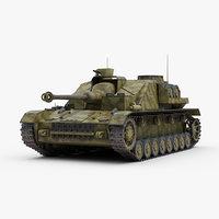ww2 german stug sdkfz 3D model