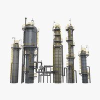 3D refinery towers model