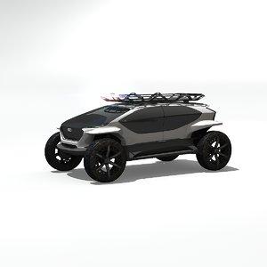 3D ai concept model