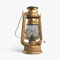 3D oil lamp lights model