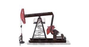 3D oil pumpjack 2 model