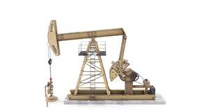 oil pumpjack 3D