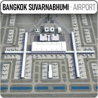 suvarnabhumi airport - bkk 3D model