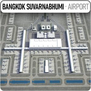 suvarnabhumi airport - bkk 3D model