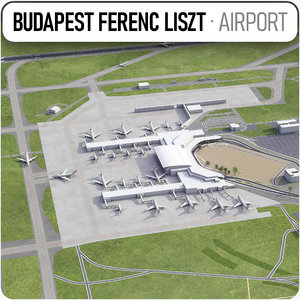 3D budapest airport - bud model