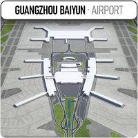 3D model guangzhou baiyun international airport