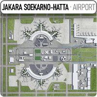 soekarno-hatta international airport 3D model