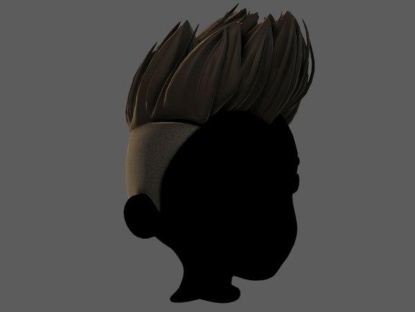 3D hair style boy v70 model
