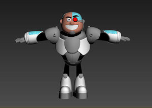 3D cyborg teen titans model