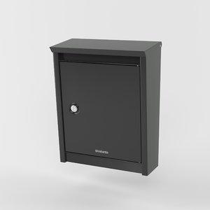 brabantia b110 mailbox 3D