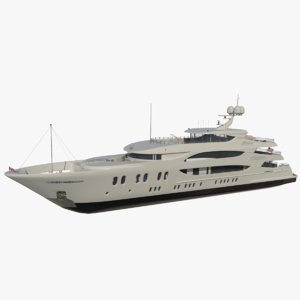 trinity yacht redshift lady 3D