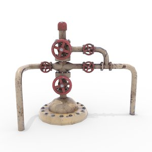 oil pumpjack wellhead model