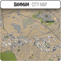 3D model dammam surrounding -