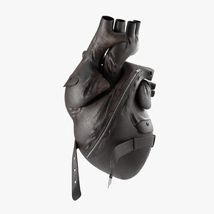 leather heart 3D