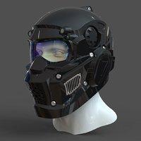CAD-friendly kit Helmet H1V1 and male head M1P1D0V1head