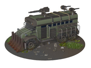 3D vehicle truck model