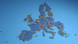 european eu states 3D model