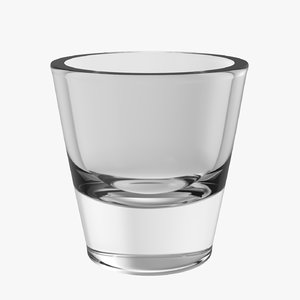 3D model realistic cheater shot glass
