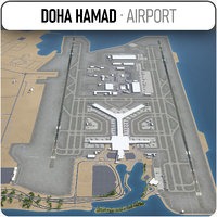3D doha hamad international airport model