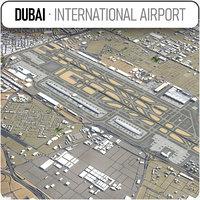 dubai international airport - 3D model