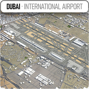 dubai international airport - 3D model