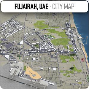 fujairah surrounding - model