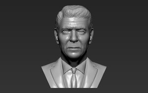 3D ronald reagan bust ready