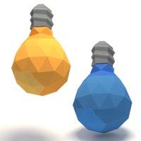 lightbulb cartoon 3D model