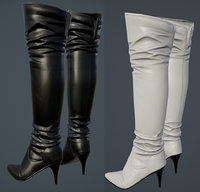 Hight heel boots High poly and Low poly