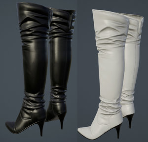 3D boots hight heel model