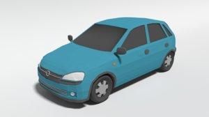 opel corsa c car 3D