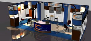 3D 3x5 booth exhibition stand