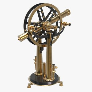 3D altitude azimuth instrument