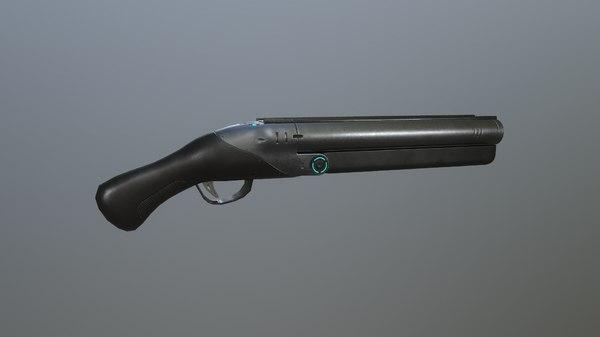 3D shotgun different guns model
