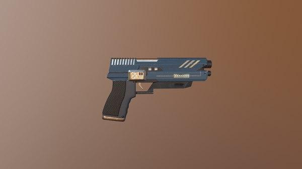 3D sci-fi guns