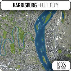 harrisburg surrounding - 3D model
