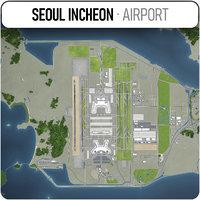 seoul incheon international airport 3D